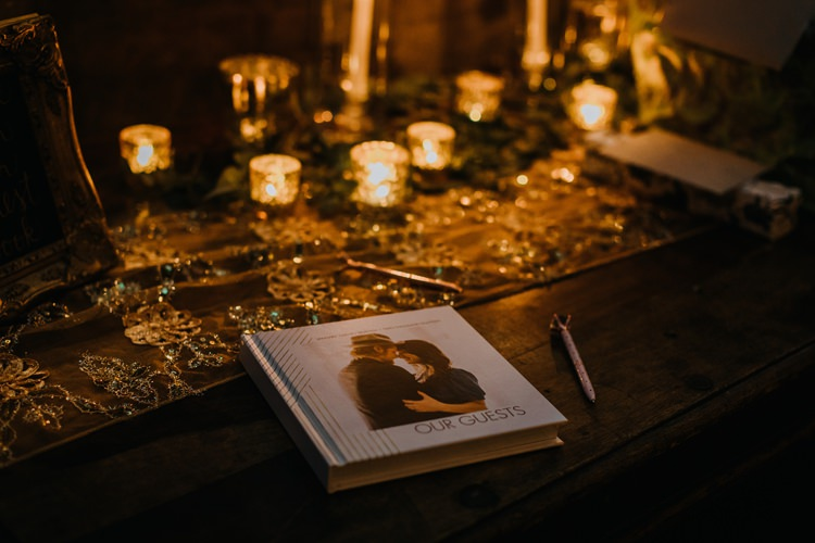 Warehouse Rustic Chic Refined Atlanta King Plow Guest Book | Boho Industrial Winter Wedding Lunalee Photography