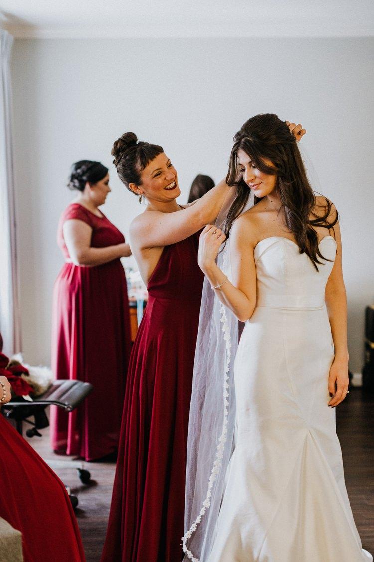 Warehouse Modern Refined Rustic Chic Bride Sweetheart Mermaid Dress Veil | Boho Industrial Winter Wedding Lunalee Photography