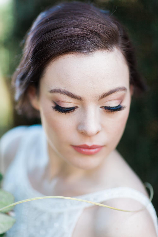 Make Up Bride Bridal Botanical Macrame Glass House Wedding Ideas Jo Bradbury Photography