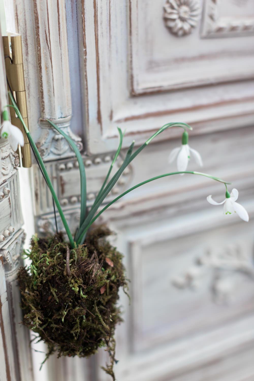 Snow Drops Moss Botanical Macrame Glass House Wedding Ideas Jo Bradbury Photography