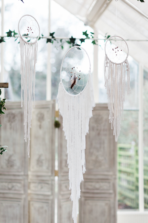 Dream Catchers Botanical Macrame Glass House Wedding Ideas Jo Bradbury Photography