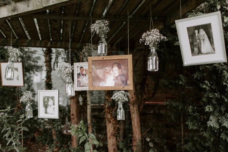 Hanging Photos Photographs Family Wall Botanical Summer Garden Wedding Nottingham Grace Elizabeth Photo & Film