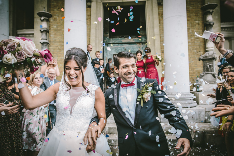 Confetti Eclectic Asylum Wedding London Rusted Rose Photography