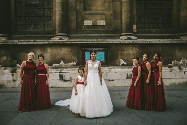 Dessy Bridesmaids Dress Skirt Top Eclectic Asylum Wedding London Rusted Rose Photography