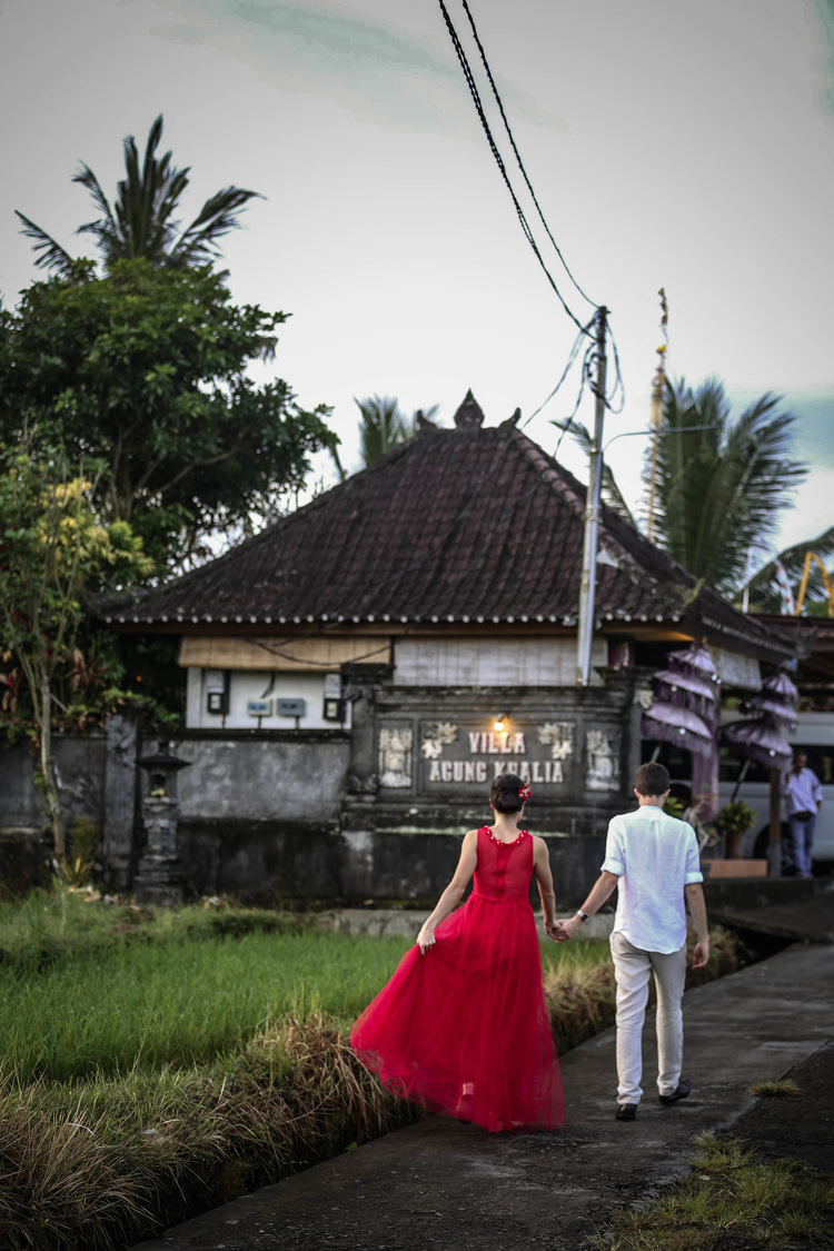 Outdoor Destination Luxury Adventure Ubud Bride Red Dress | Whimsical Exotic Tropical Jungle Wedding Bali http://www.cecilephotographybali.com/