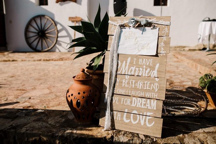 Spain Sun Outdoor Tropical Mediterranean Garden Villa Wood Rustic Signs Cards Gifts | Ibiza Destination Wedding Amy Faith Photography