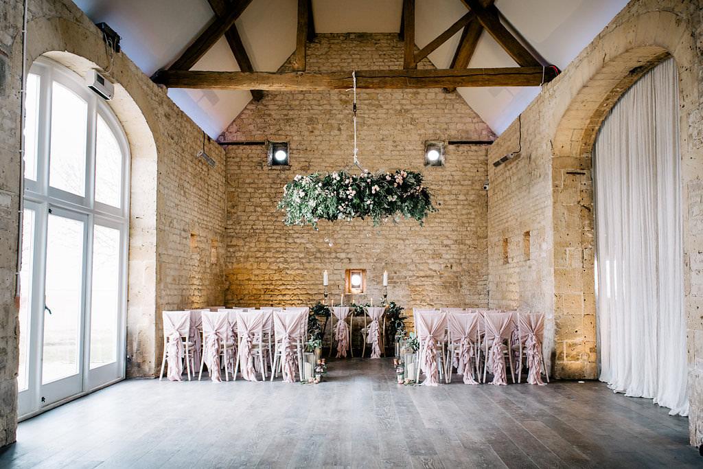 Ceremony Room Lapstone Barn Wedding Ideas Cotswolds Katie Hamilton Photography
