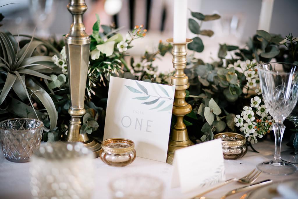 Botanical Stationery Lapstone Barn Wedding Ideas Cotswolds Katie Hamilton Photography