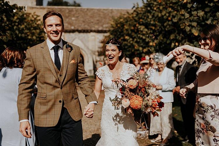 Confetti Throw North Hidden Barn Wedding Autumn Jen Marino Photography