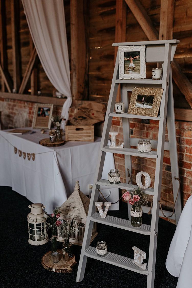 Wooden Ladder Decor North Hidden Barn Wedding Autumn Jen Marino Photography