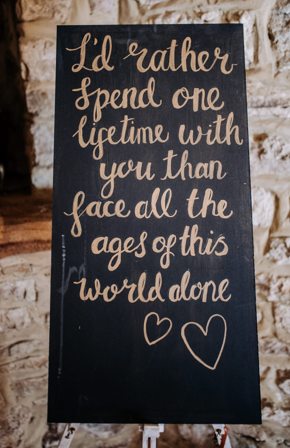 Black Chalk Board Sign Quote Notley Tythe Barn Wedding Kazooieloki Photography