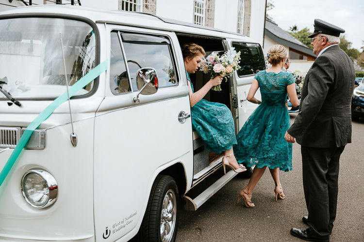 VW Camper Van Pretty Pastel Floral Village Hall Wedding Struve Photography