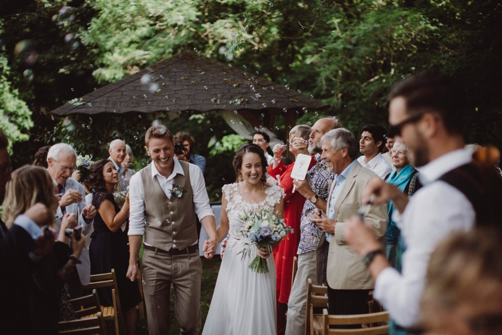 Bubble Confetti The Green Cornwall Wedding Ben Selway Photography