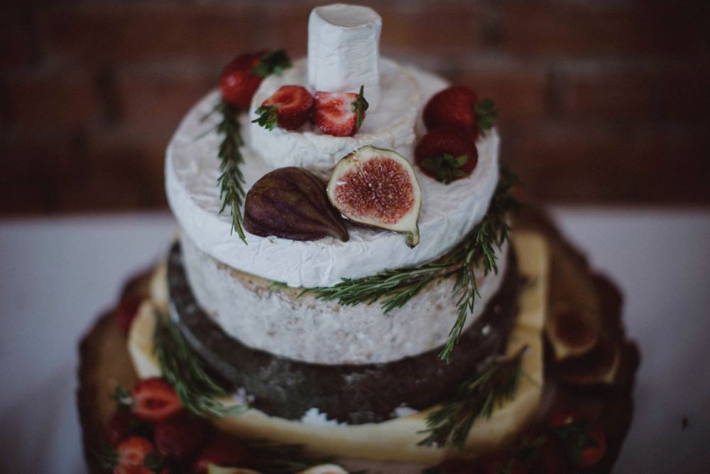 Cheese Tower Cake The Green Cornwall Wedding Ben Selway Photography