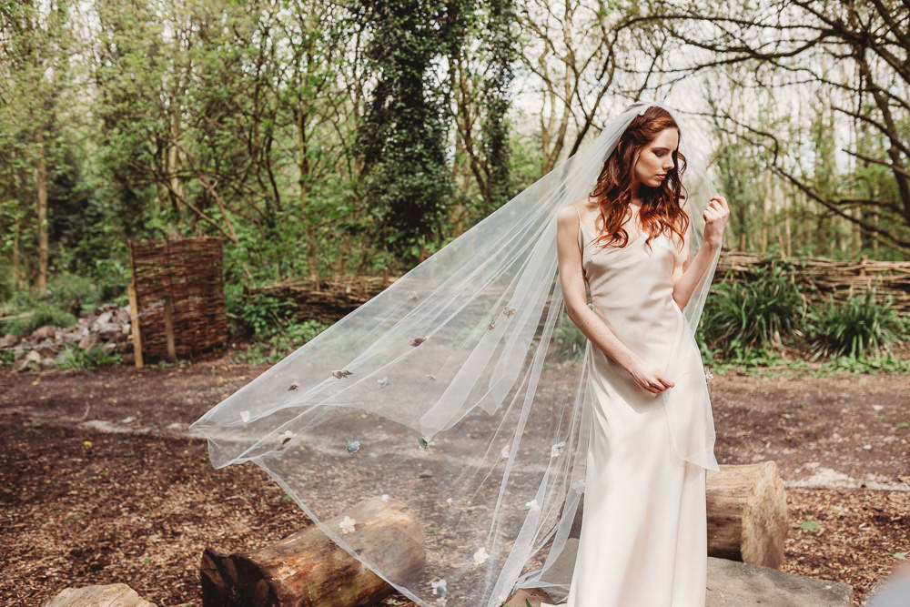 Dress Gown Bride Bridal Lace Silk Train Veil Flowers Embroidery Arnos Vale Weddings Ideas When Charlie Met Hannah Photography