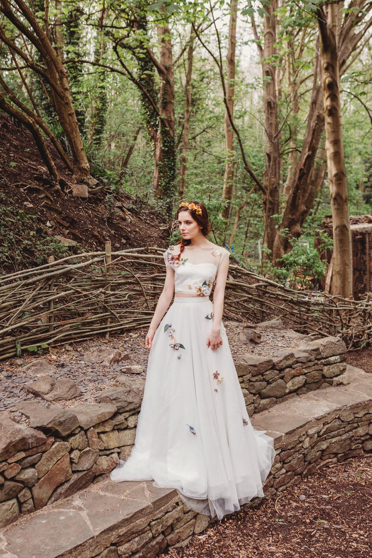 Dress Gown Bride Bridal Lace Silk Train Veil Flowers Embroidery Skirt Top Arnos Vale Weddings Ideas When Charlie Met Hannah Photography