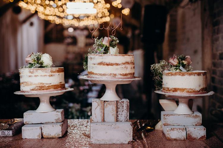 Semi Naked Cake Buttercream Flowers Toppers Creative Hertfordshire Barn Boho DIY Wedding Beard and Mane Photography