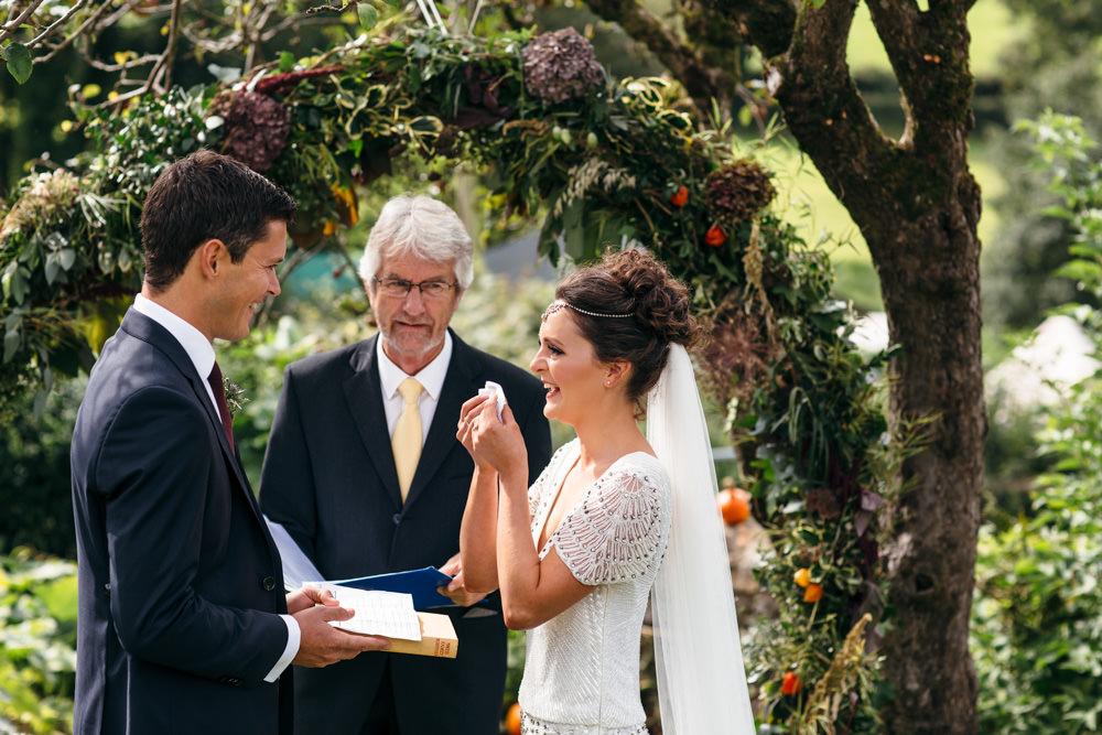 Devon Garden Wedding Tipi Freckle Photography