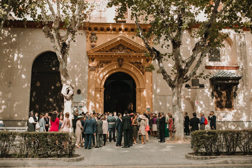 Outdoor Seville Destination Villa Church Baroque Summer | Colorful and Heartfelt Wedding in Spain Boda&Films
