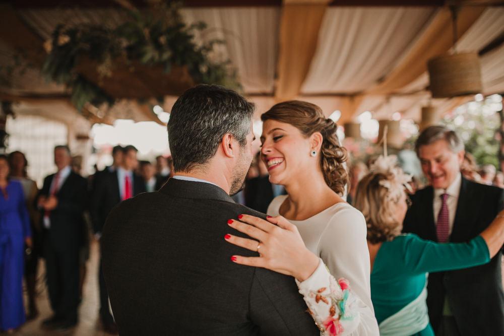 Outdoor Seville Destination Villa Hacienda Bride Groom First Dance | Colorful and Heartfelt Wedding in Spain Boda&Films