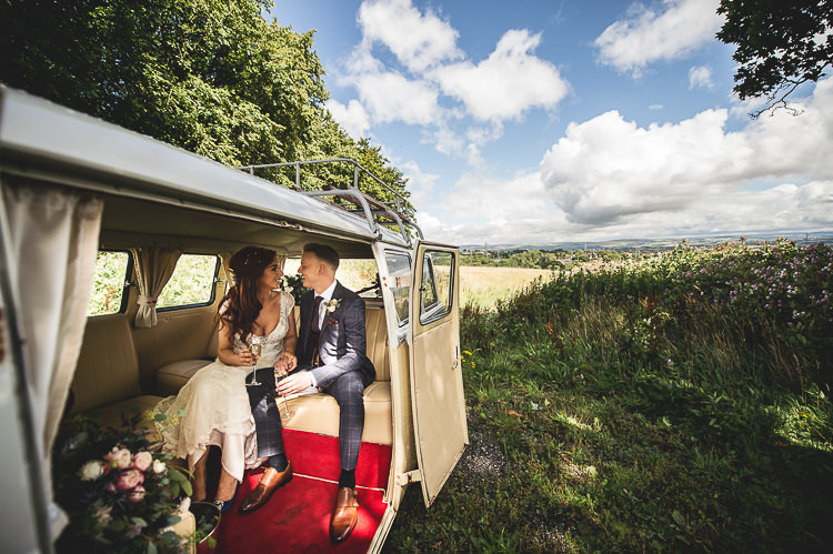 VW Campervan Transport Tipi Garden Wedding Wedding Foxley Photography