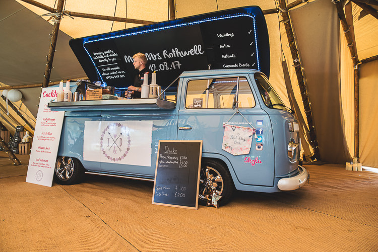 Truck Van Bar Drinks Tipi Garden Wedding Wedding Foxley Photography