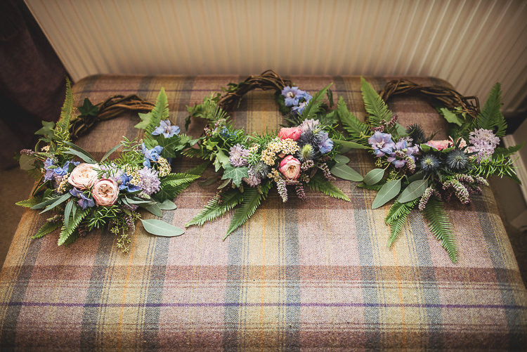 Flowers Headdress Crowns Bride Bridal Wreath Hoops Tipi Garden Wedding Wedding Foxley Photography