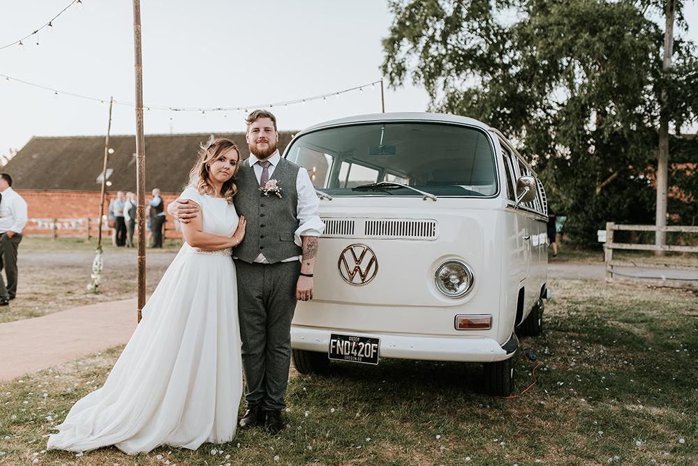 VW Campervan Blithfield Lakeside Barns Wedding Daniel McClane Photography