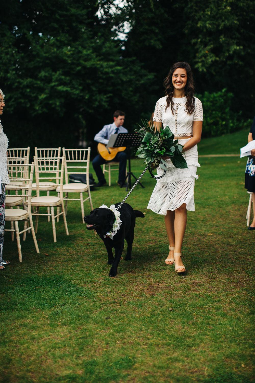 Dog Pet Aisle Ceremony Deer Park Country House Hotel Wedding Richard Skins Photography