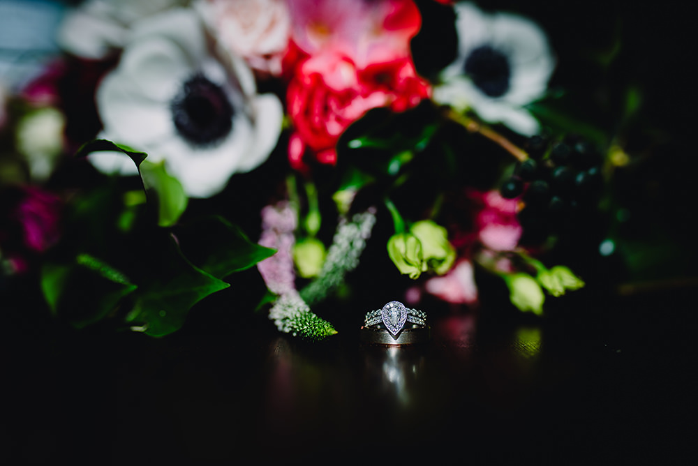 Pear Cut Engagement Ring Diamond Band Industrial Winter Wedding Reality Photography