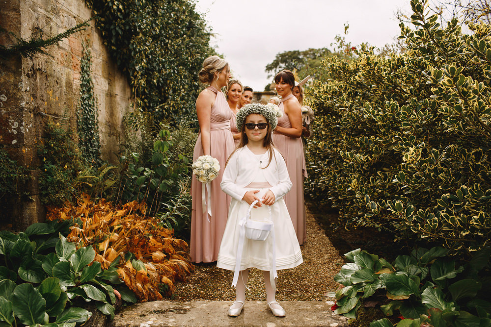 Cotswolds Royal Castle Summer Autumn Traditional Classic Elegant Pink Bridesmaids Cool Flower Girl   Sudeley Castle Wedding ARJ Photography