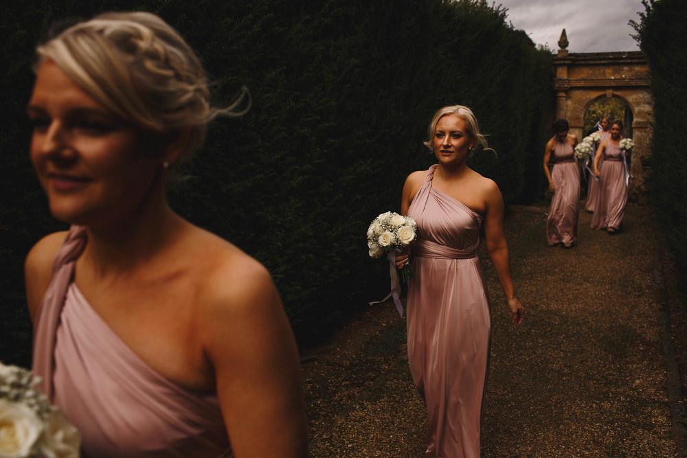 Cotswolds Royal Castle Summer Autumn Traditional Classic Elegant Pink Bridesmaids White Bouquet   Sudeley Castle Wedding ARJ Photography