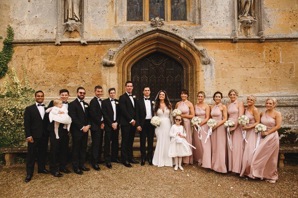 Cotswolds Royal Castle Summer Autumn Traditional Classic Elegant Groom Bride Black Tie Groomsmen Pink Bridesmaids   Sudeley Castle Wedding ARJ Photography
