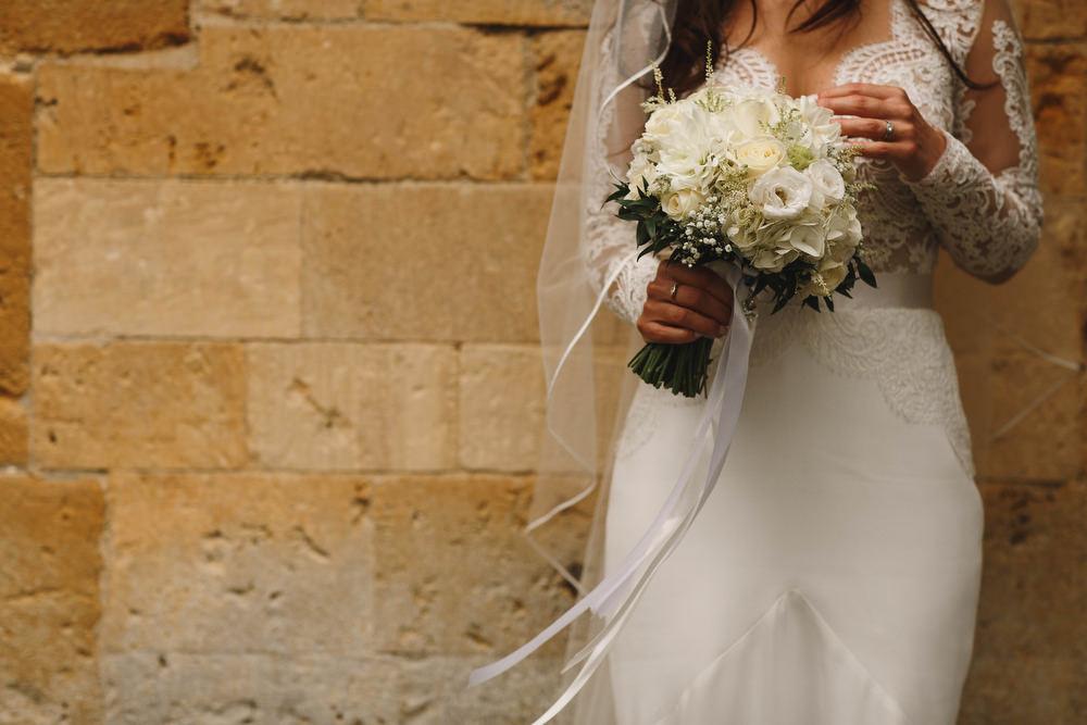 Cotswolds Royal Castle Summer Autumn Traditional Classic Elegant Bride Small White Bouquet Amie Bone   Sudeley Castle Wedding ARJ Photography