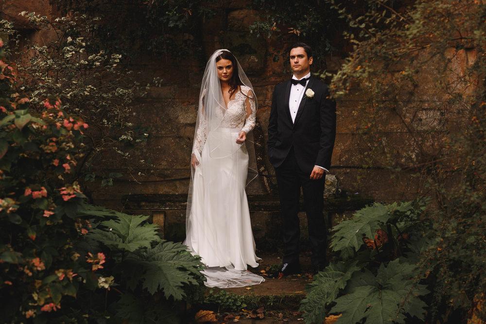 Cotswolds Royal Castle Summer Autumn Elegant Traditional Bride Groom Long Sleeved Suzanne Neville   Sudeley Castle Wedding ARJ Photography
