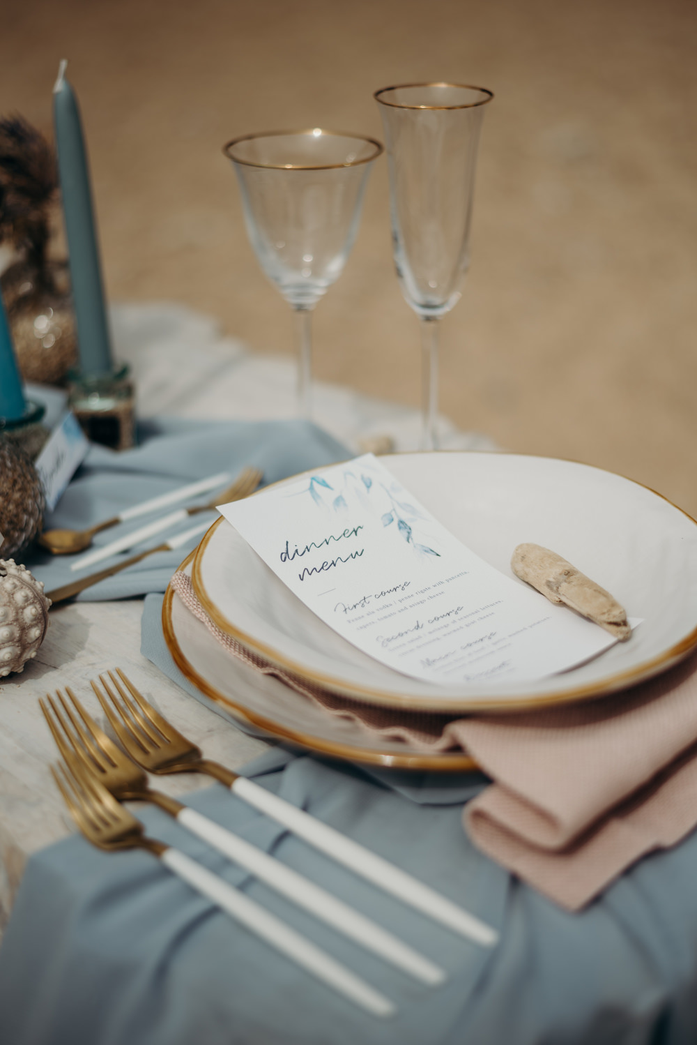 Outdoor Wild Nature Destination Spain Europe Coastal Styled Shoot Beach Table Elegant Styling   Blue Ibiza Elopement Ideas and Surprise Proposal Serena Genovese Photography