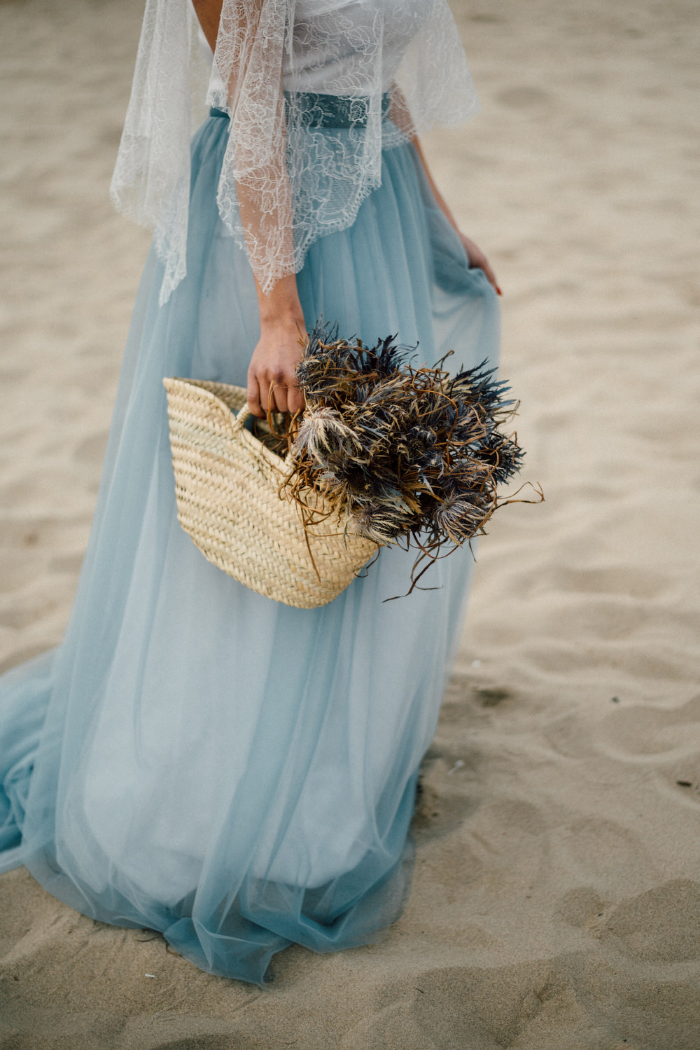 Outdoor Wild Nature Destination Spain Europe Coastal Styled Shoot Bride Blue Gown Lace Sea Holly   Blue Ibiza Elopement Ideas and Surprise Proposal Serena Genovese Photography