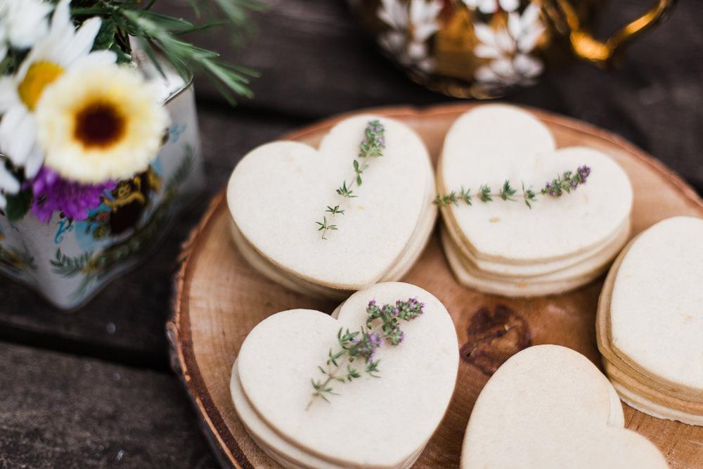 Heart Cookies Colourful Bohemian Floral Wedding Ideas Anna Beth Photography