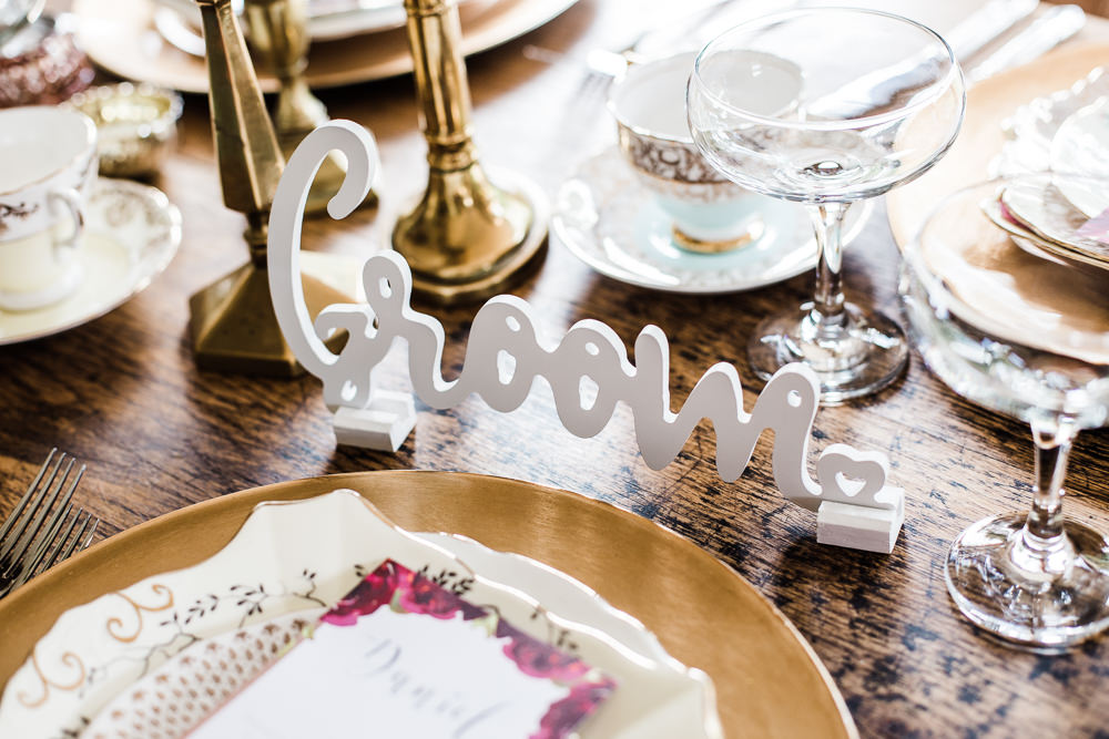 Laser Cut Place Name Colourful Bohemian Floral Wedding Ideas Anna Beth Photography