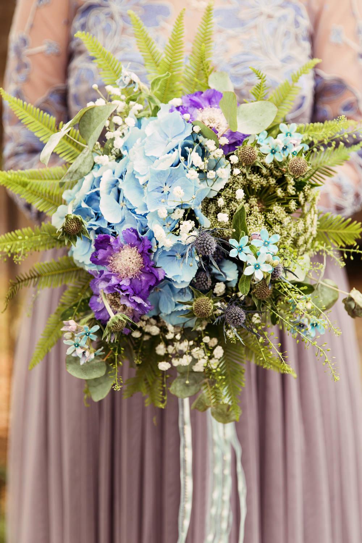 Rainbow Multicolour Bouquets Bridesmaids Dresses Flowers Pastel Pretty Festival Wedding Mismatched Country Camilla Lucinda Photography