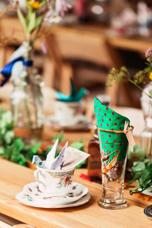 Vintage Tea Set China Table Setting Festival Wedding Mismatched Country Camilla Lucinda Photography
