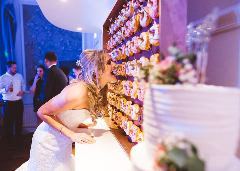 Donut Wall George Rye Wedding Hollie Carlin Photography
