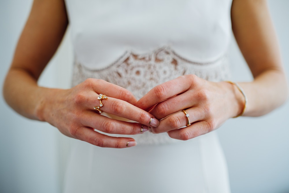 Bride Bridal Jewellery Rings Tanner Warehouse Wedding Marianne Chua Photography