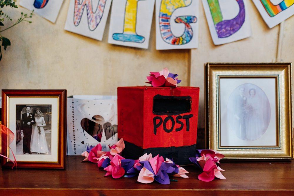 Children Post Box Cards Photographs Tanner Warehouse Wedding Marianne Chua Photography