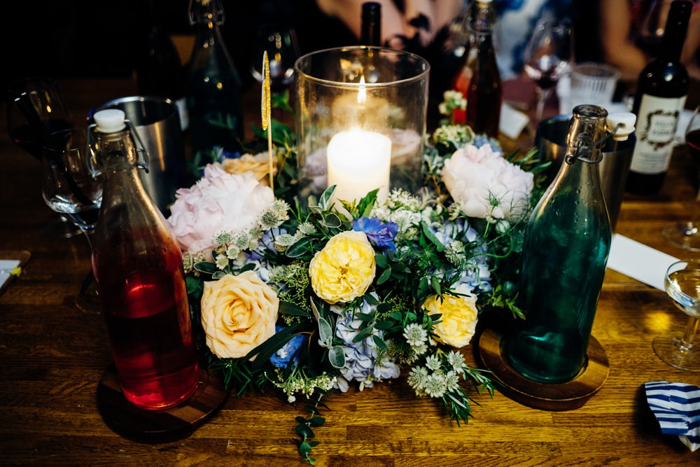 Centrepiece Flowers Floral Peonies Tanner Warehouse Wedding Marianne Chua Photography
