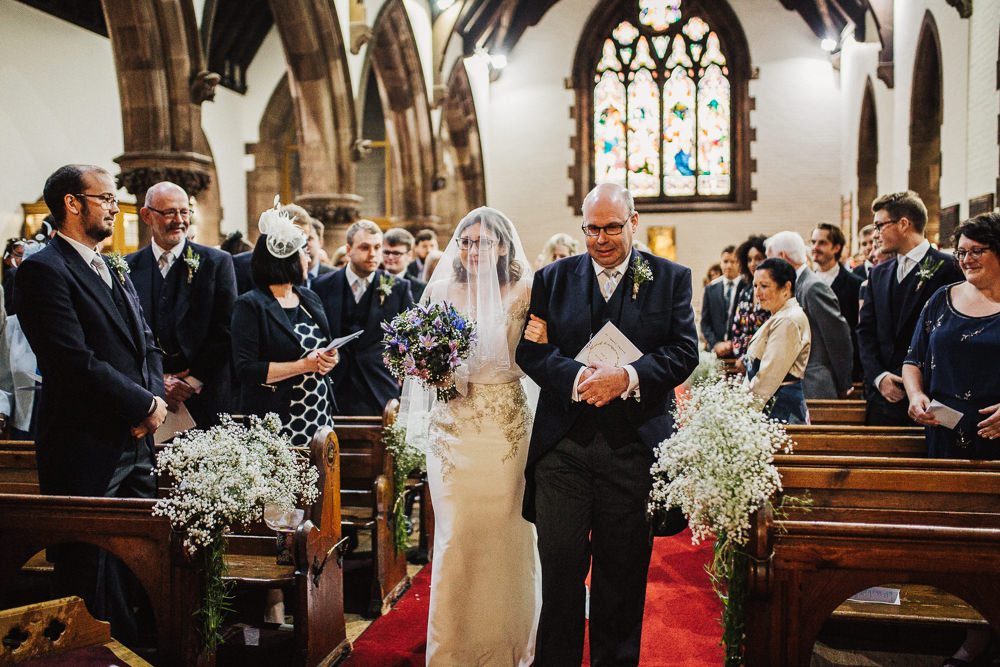 Bride Bridal Enzoani Fitted Wedding Dress Embellished Cap Sleeve Gypsophila Veil Glasses Whimsical Countryside Sperry Tent Wedding Emilie May Photography