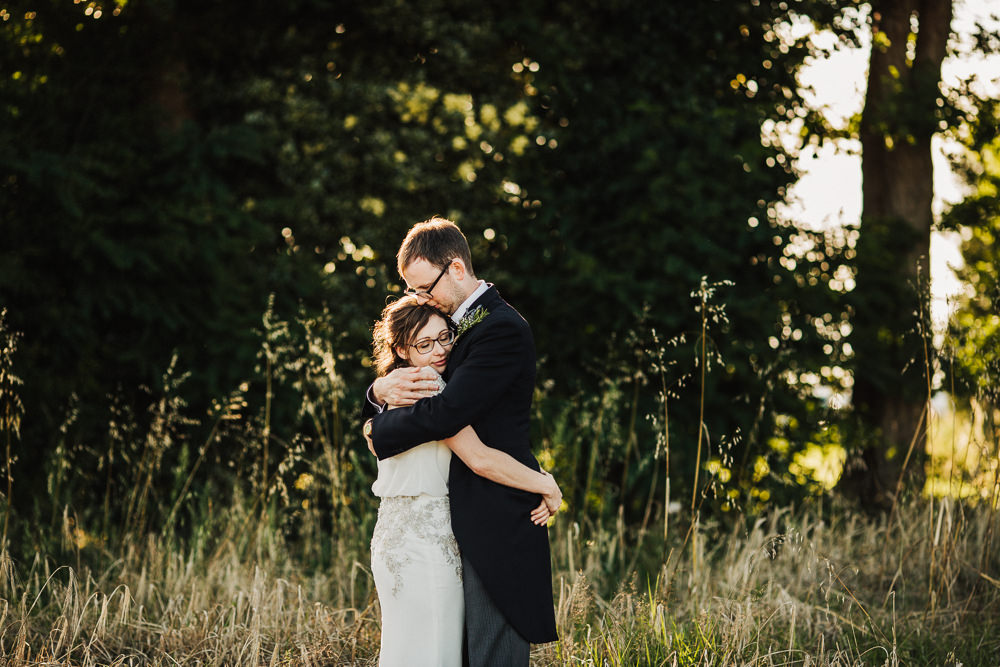 Bride Bridal Enzoani Fitted Wedding Dress Embellished Cap Sleeve Gypsophila Groom Tails Whimsical Countryside Sperry Tent Wedding Emilie May Photography