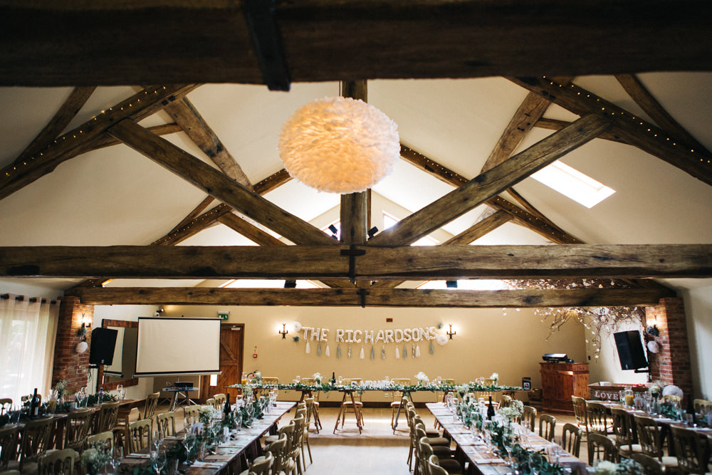 Decor Greenery Top Table Balloons Name Wray's Barn Whinstone View Wedding Sally T Photography