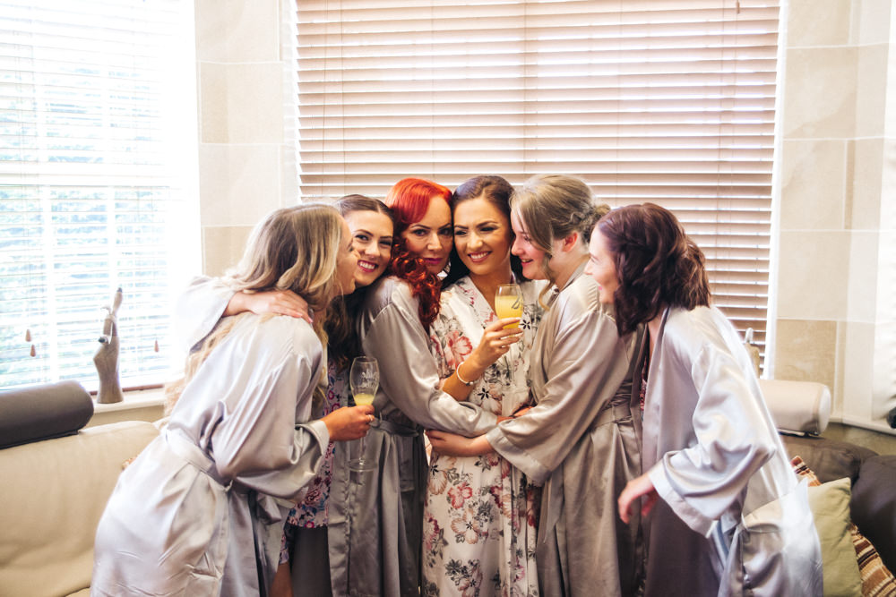 Bride Bridal Prep Dressing Gowns Robes Bridesmaids Wray's Barn Whinstone View Wedding Sally T Photography