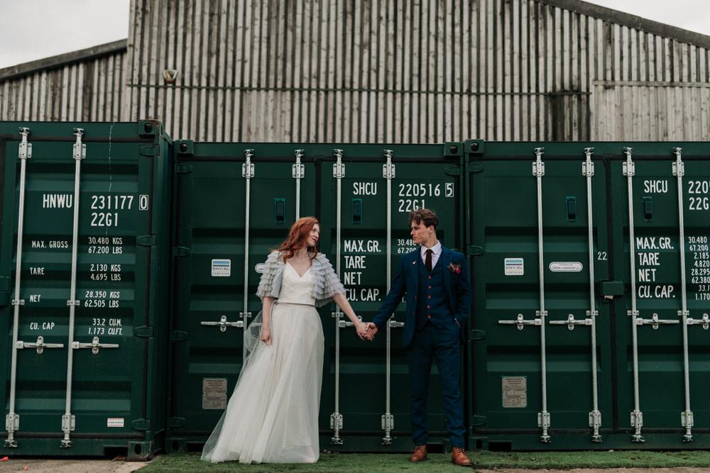Industrial Luxe Wedding Ideas Balloon Installation Ayelle Photography